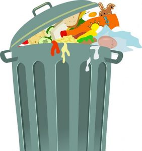 nettoyer poubelle pleine