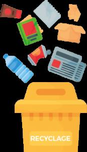 reduire ses déchets pile de déchets